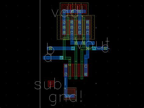 layout nand 3 input nand gate vlsi final project 8 bit claa