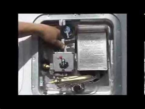 4. how to light a rv water heater pilot youtube