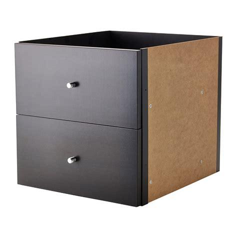 Ikea Living Room Drawers Kallax Insert With 2 Drawers Black Brown Ikea
