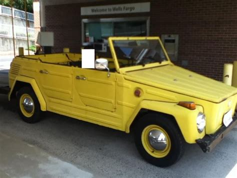 volkswagen thing yellow seller of classic cars 1973 volkswagen thing yellow black