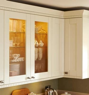 Kitchen Cupboard Cornice - howdens height glass wall units and castellated