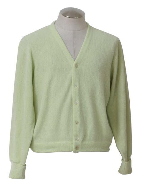 Sweater Grandsfam 1970 s retro caridgan sweater 70s grand slam celery