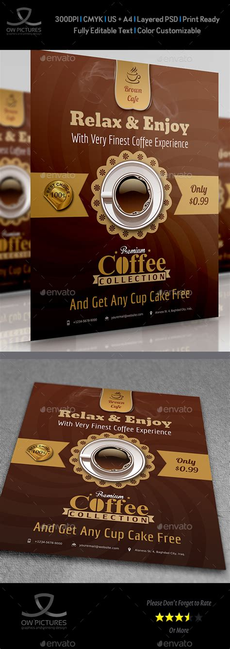 cafe flyer by owpictures graphicriver