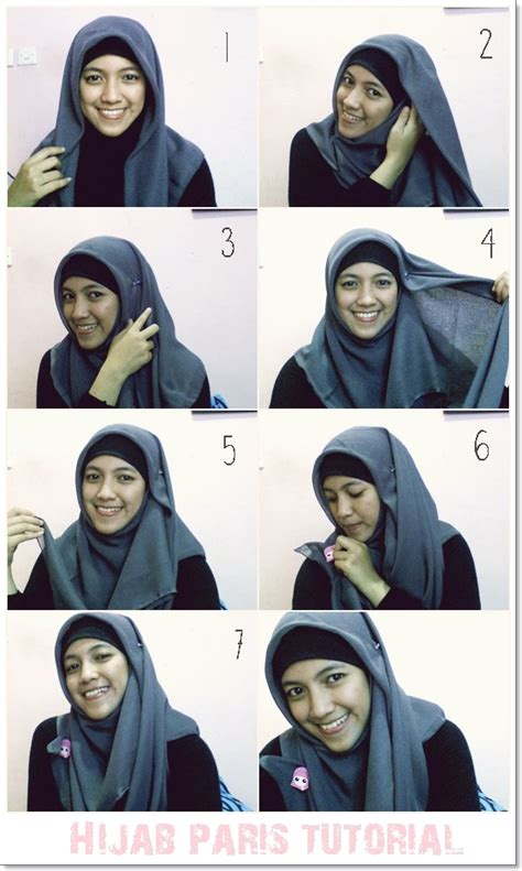 tutorial hijab paris remaja simple fridayafternoon simple paris hijab tutorial