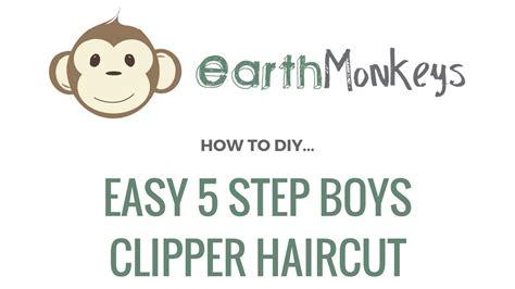 step by step boys hair cut directions easy 5 step boys clipper haircut youtube