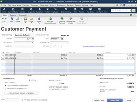 quickbooks tutorial receiving payments quickbooks training customers receive payments autos post