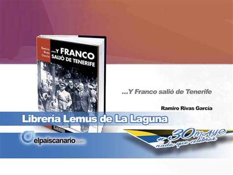 libreria lemus tenerife y franco sali 243 de tenerife se presenta el 8 de junio en
