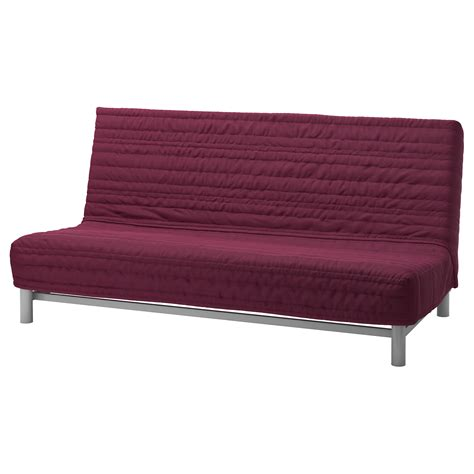 sofa chair bed beddinge l 214 v 197 s three seat sofa bed knisa cerise ikea