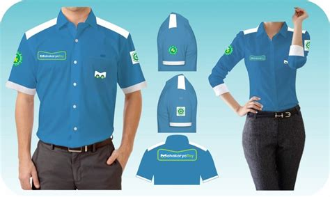 design baju seragam keren sribu industrial office uniform clothing design service