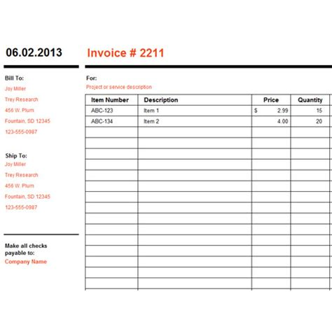 best photos of excel 2010 invoice template free simple