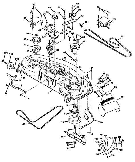 craftsman dlt 3000 lawn mower parts diagram craftsman