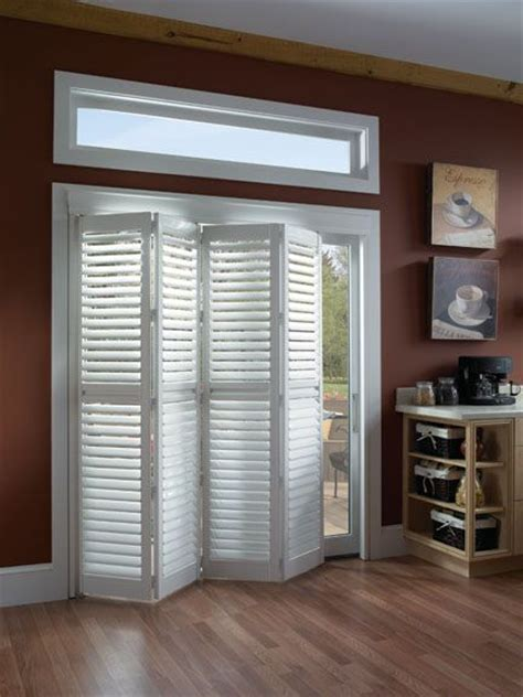 Shutter Blinds For Patio Doors by 25 Best Ideas About Sliding Door Treatment On