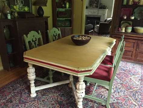 chalk paint dining room table arles the purple painted