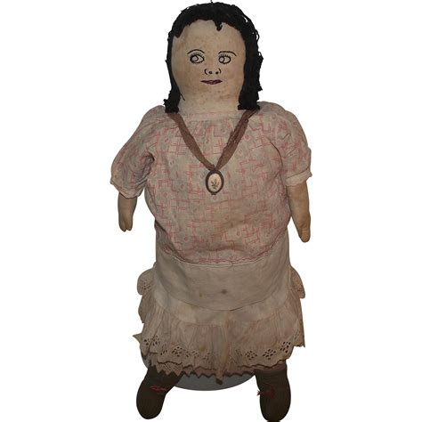 rag doll l large cloth rag doll with stitched on