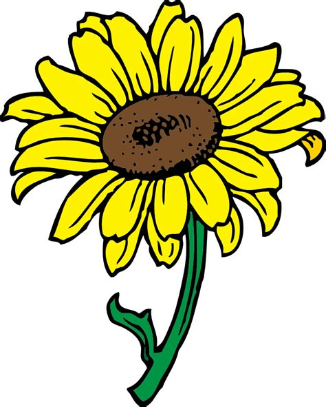 clip images sunflower flag this clip clipart panda free