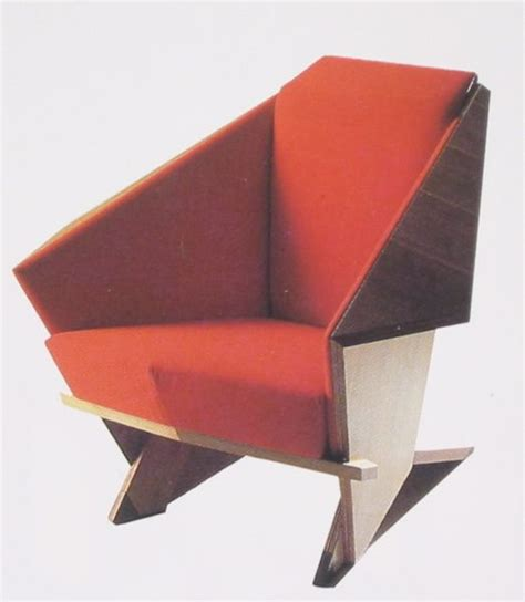 the frank lloyd wright origami chair i got to sit in one