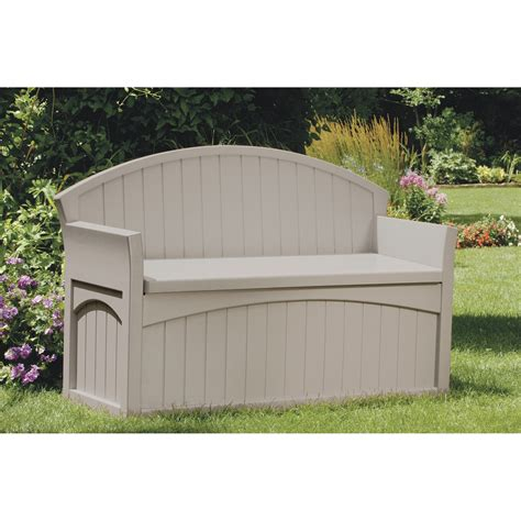 suncast bench suncast outdoor patio bench with storage model pb6700 northern tool equipment