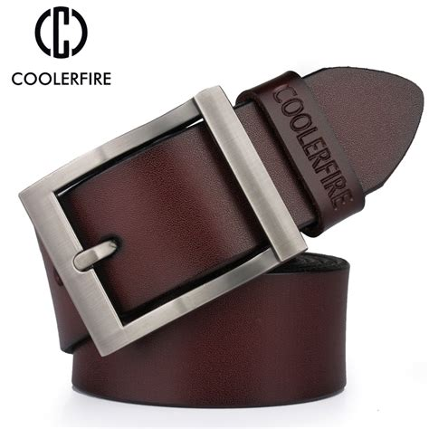 Cowather Brand Vintage Design 100 Genuine Leather Dompet Pria Impor popular fancy mens belts buy cheap fancy mens belts lots