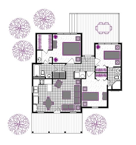 floor plan and furniture placement rutherford house 908 3162 3 bedrooms and 2 5 baths