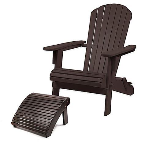 adirondack chair and ottoman westerly acacia wood adirondack folding chair and ottoman