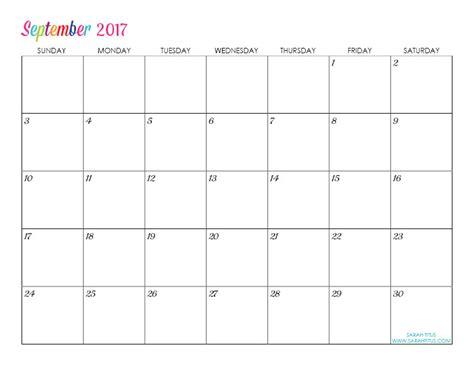 printable editable calendar free custom editable free printable 2017 calendars sarah titus