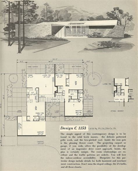 vintage house blueprints 64 best mid century architecture images on