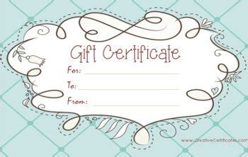 editable gift card template for company free gift certificate template customizable