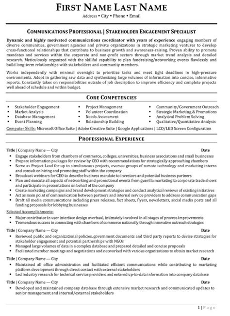 public relations account manager resume
