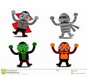 Personaje De Dibujos Animados Del Monstruo Halloween