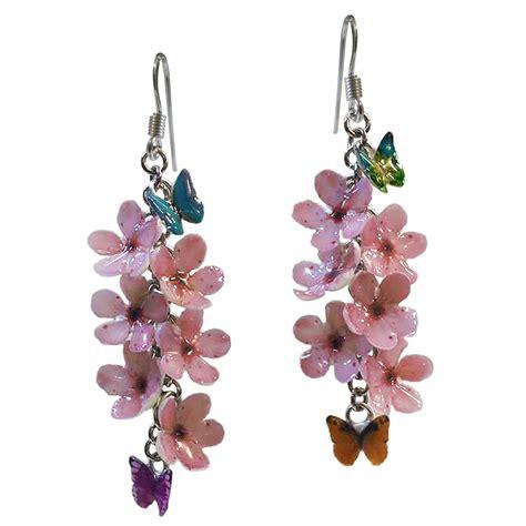 fiori di ciliegio e farfalle orecchini fiori di ciliegio e farfalle gioielli