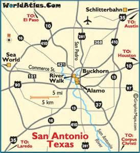 map of san antonio and surrounding cities san antonio map san antonio attractions the alamo