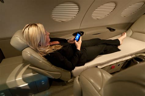 jetbed offers sleeping comfort   small aircraft cabin