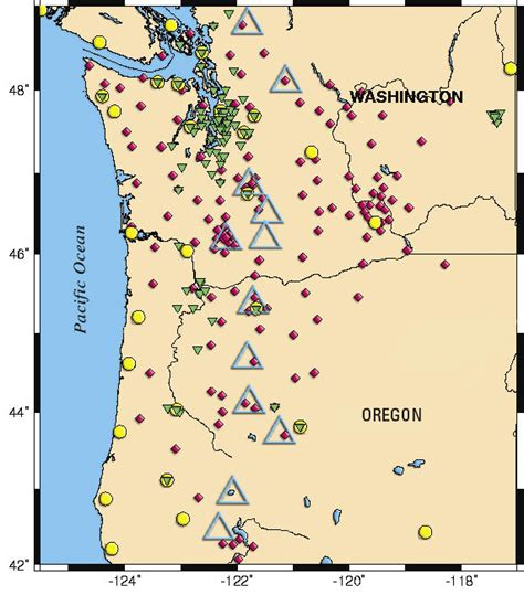 oregon earthquake map fs 2004 3073 pnsn pacific northwest seismograph network