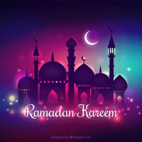 design background ramadan ramadan kareem background with nocturnal design vector