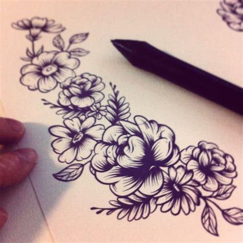 tattoo flower print 17 best ideas about flower tattoos on pinterest