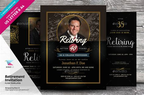 Retirement Invitation Flyer Templates By Kinzi21 Graphicriver Retirement Flyer Template Powerpoint
