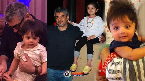 actor ajith mit actor ajith family photos with wife daughter anoushka