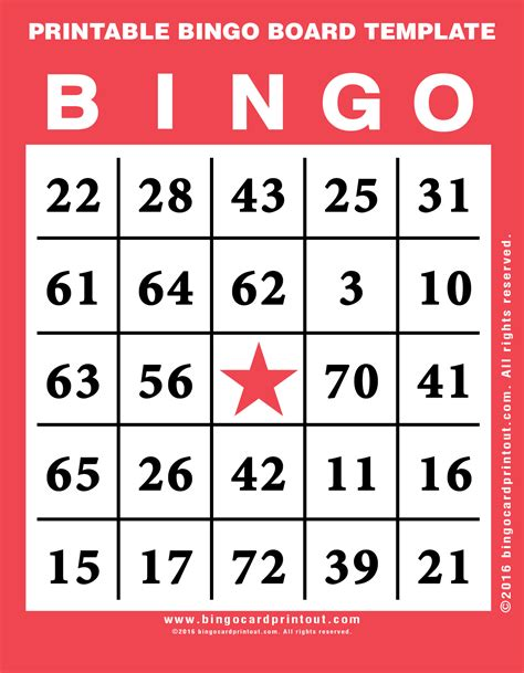 printable board template printable bingo board template bingocardprintout