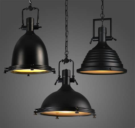Black Pendant Lights For Kitchen 100 240v Large Heavy Lustres Home Vintage Industrial Metal L Loft Vintage Black Chrome