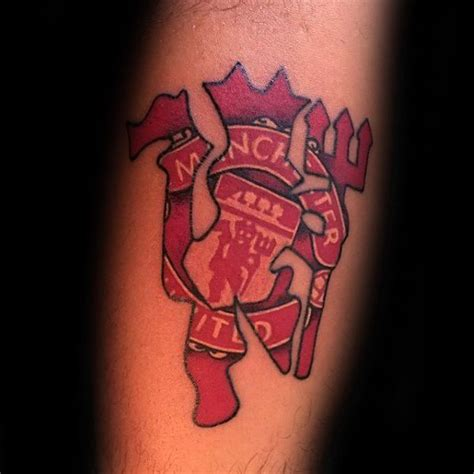 40 manchester united tattoo designs for men soccer ideas