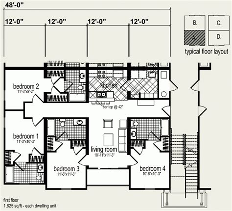 Floor Plans For Multi Family Homes by Modular Homes Multi Family 24 Plex