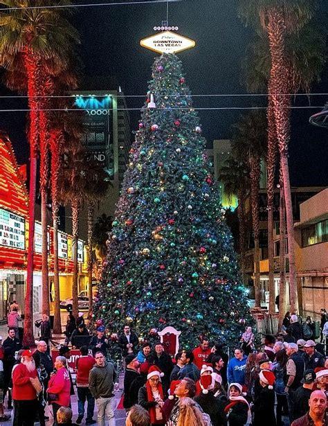 fremont street experience celebrates the holiday season