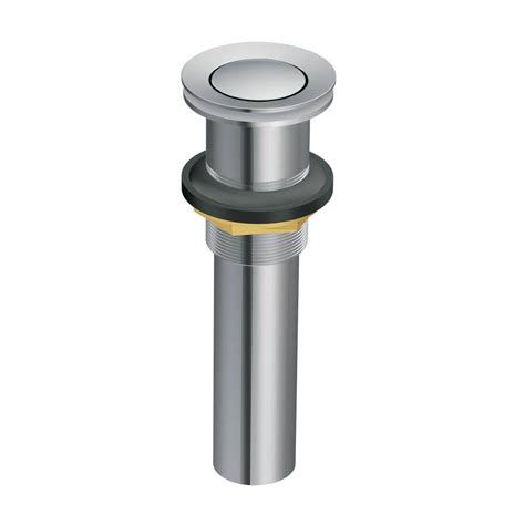 brushed nickel drain assembly moen lavatory pop up drain assembly without overflow in