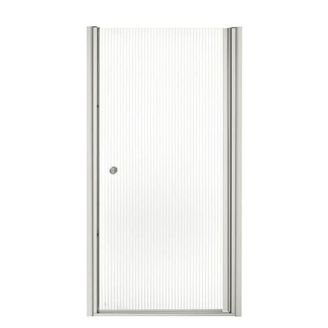 Fluence Shower Door Kohler Fluence 35 1 4 In X 65 1 2 In Semi Frameless Pivot Shower Door In Matte Nickel With