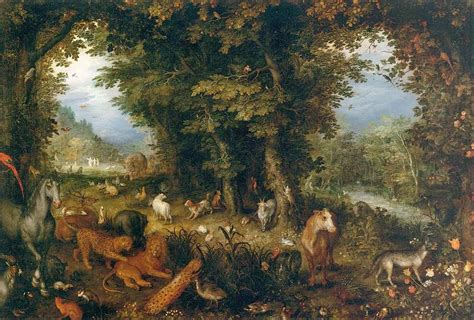 The Fall In The Garden Of Eden - paintings of spring the garden of eden in painting