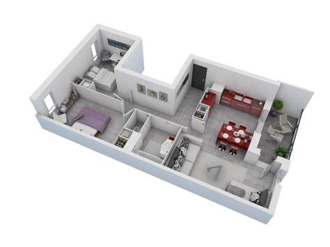 Plan Maison 3d D Appartement 2 Pi Ces En 60 Exemples | plan maison 3d d appartement 2 pi 232 ces en 60 exemples