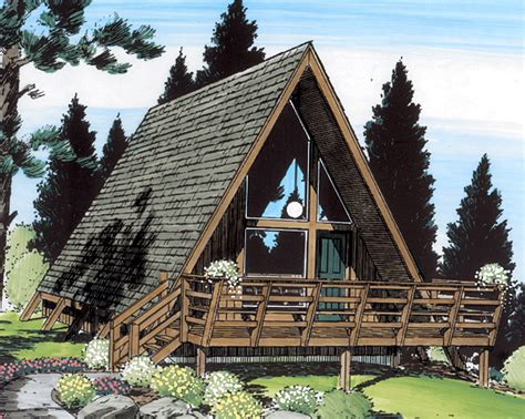a frame style house a frame small pines