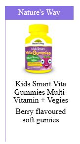Natures Way Smart Vita Gummies Multivitamin For Fussy Eaters what to give who are fussy eaters your chemist shop