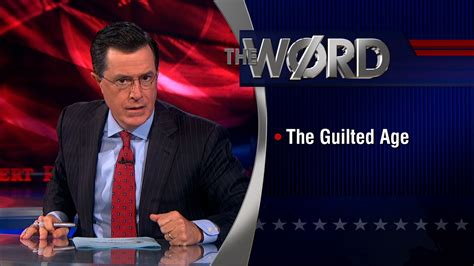 the colbert report colbert nation comedy central tattoo the word the guilted age the colbert report comedy