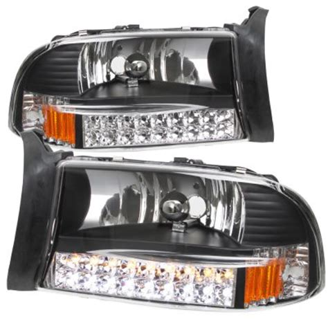 2003 dodge dakota headlights dodge dakota 1997 2004 black headlights with led